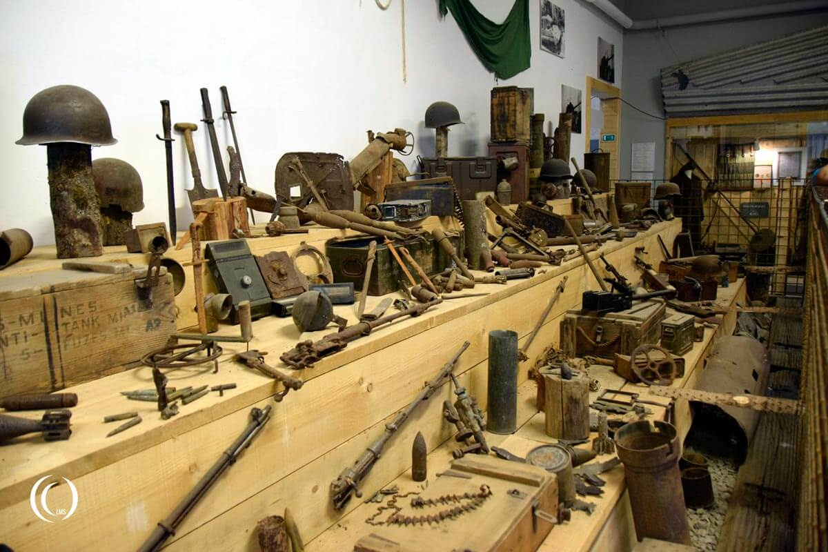 Various items on display at Bastogne Barracks