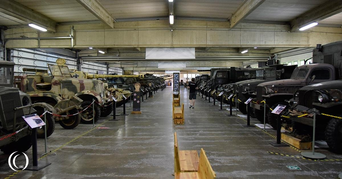 Tanks and vehicles on display at Bastogne Barracks Belgium