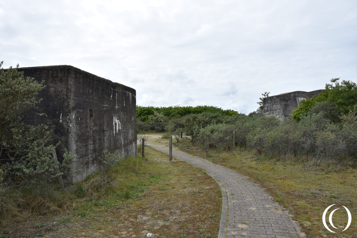 A opening between two MG Bunkers at the anti Tank Wall - Stützpunkt Katwijk