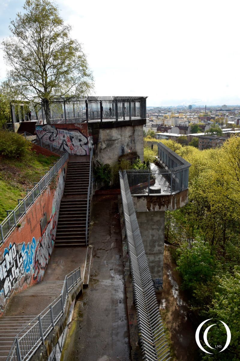 View on the FlakTurm Humboltshain and Berlin in the back