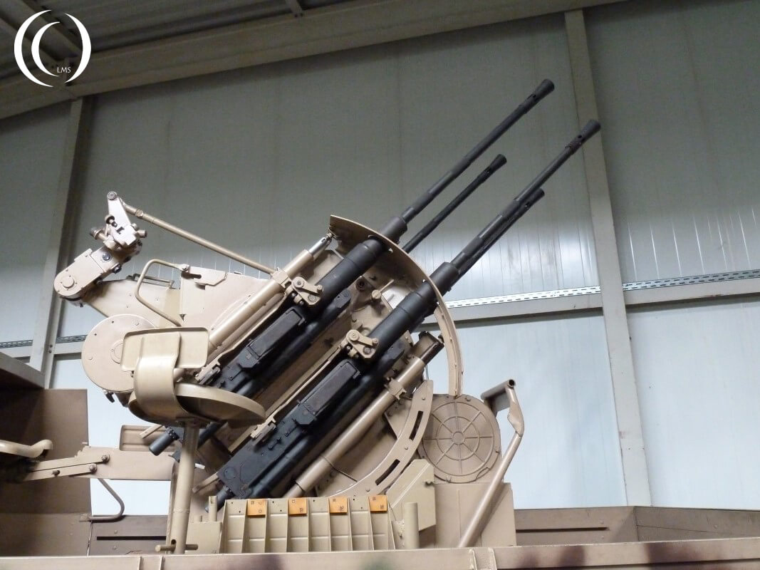 Flakvierling Flak 38 quadruple gun in Defense Technology Museum – Koblenz, Germany