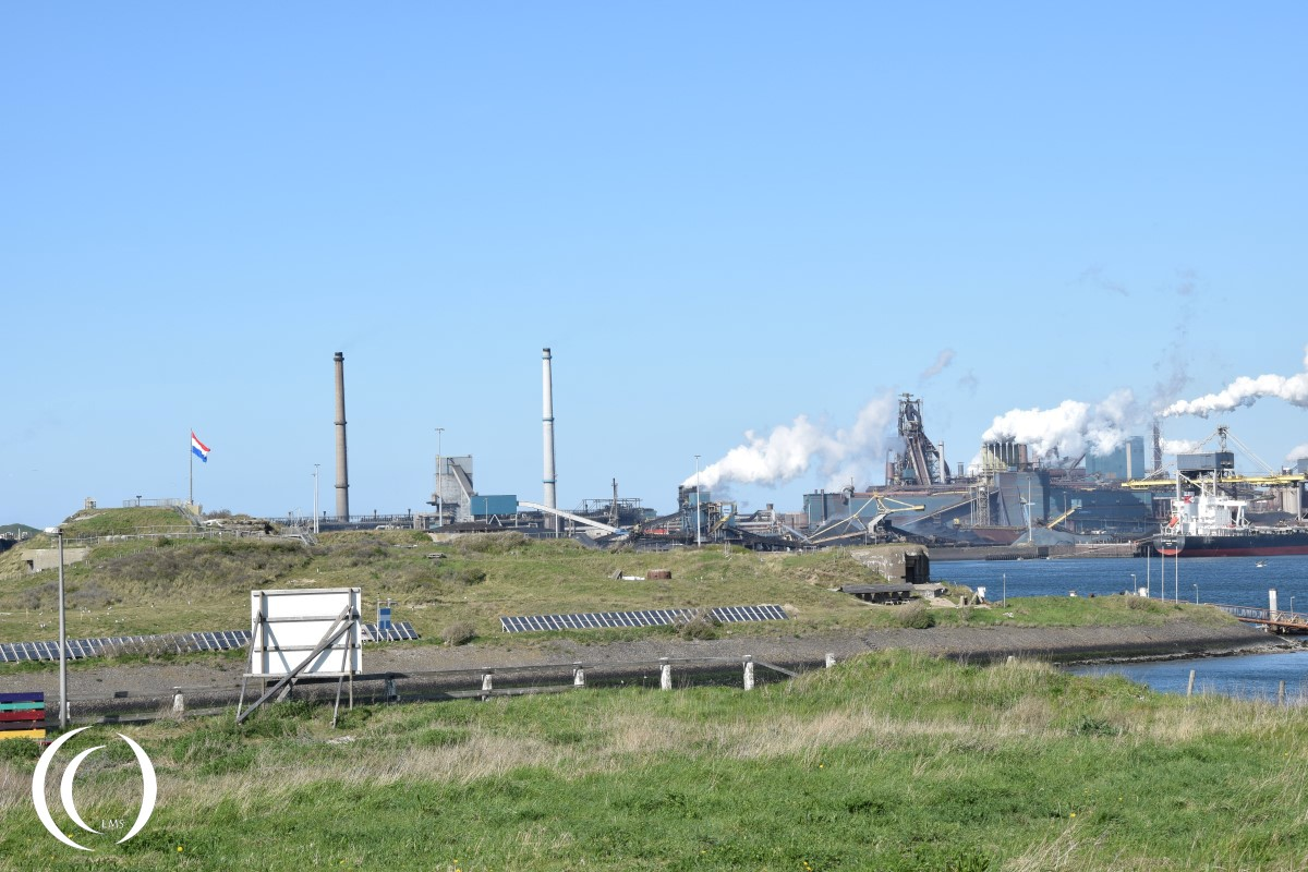 Kernwerk Festung IJmuiden, the island in the North Sea Canal - seen from the Schnellboot bunker