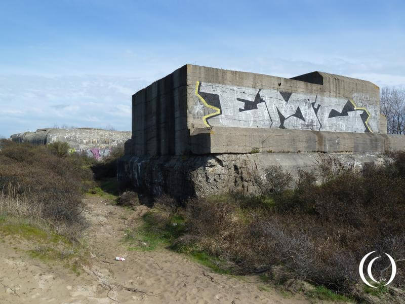 Battery Oldenburg, Fire Control and hospital bunker & Turm West
