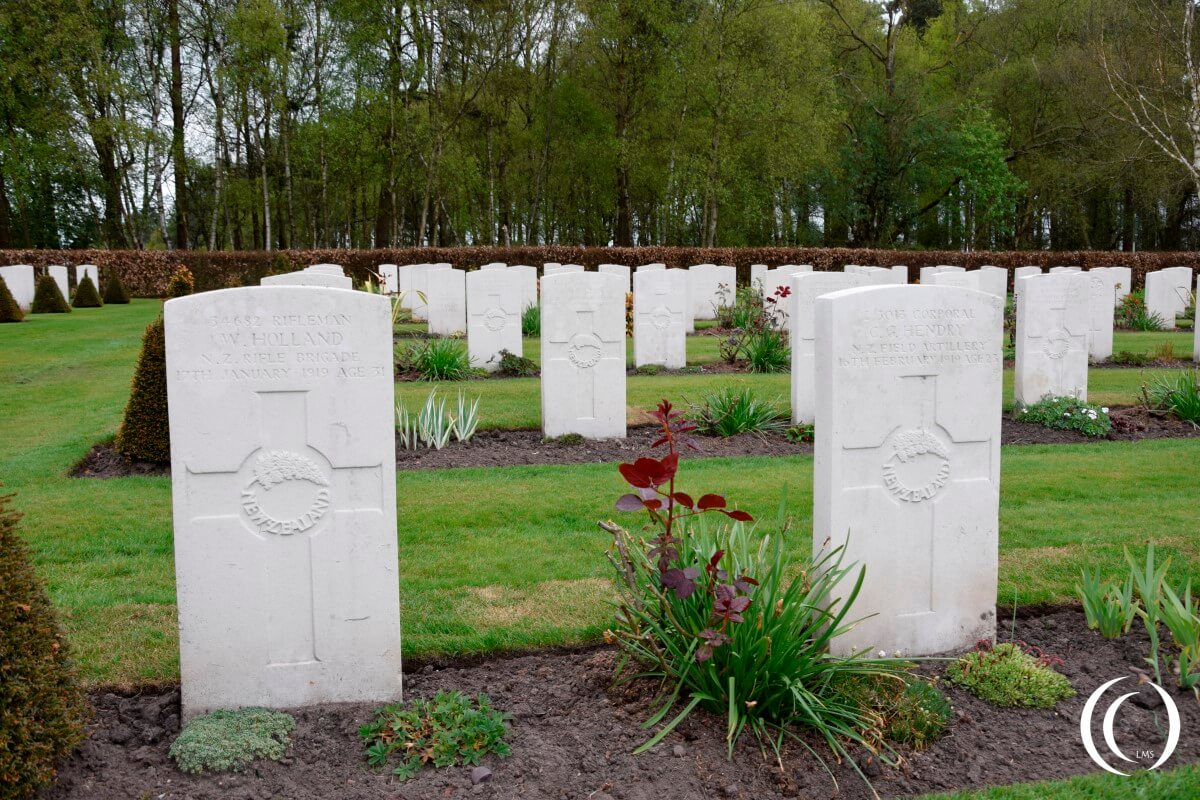 Commonwealth Cemetery Cannock Chase - New Zealand Rifle Brigade