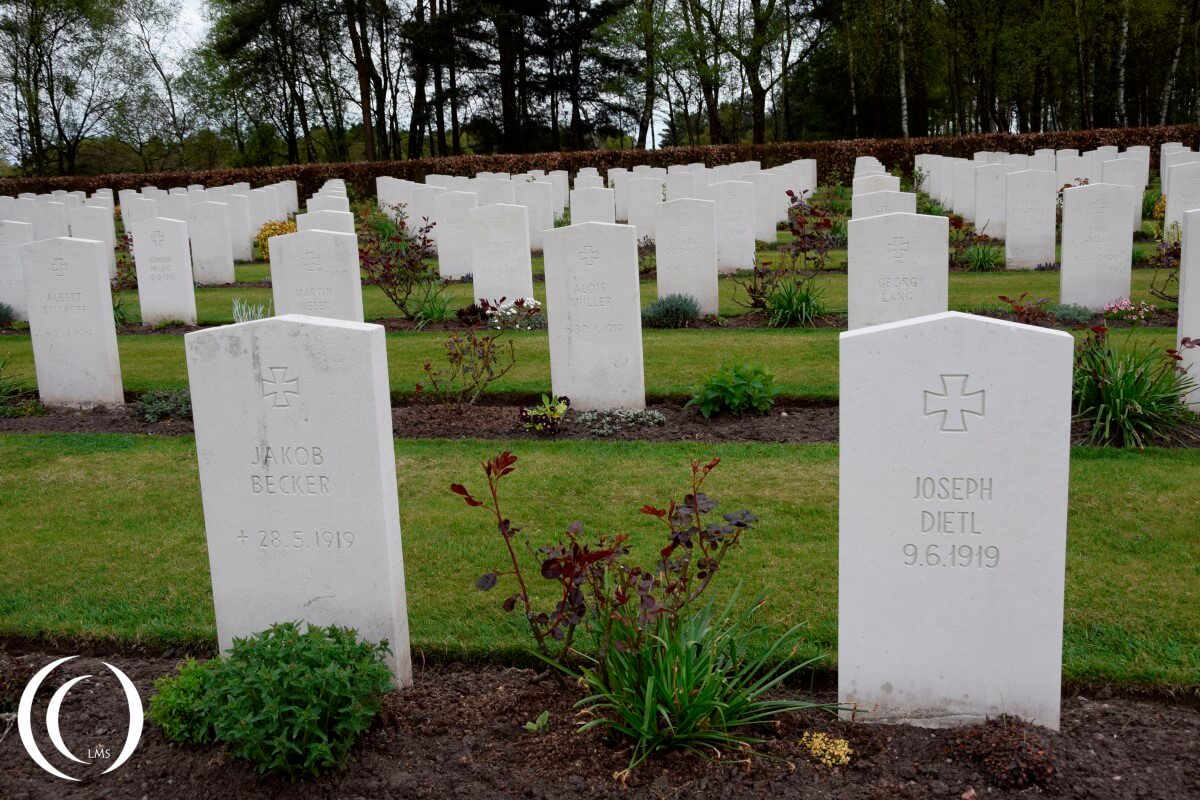 Commonwealth Cemetery Cannock Chase - First World War German Graves