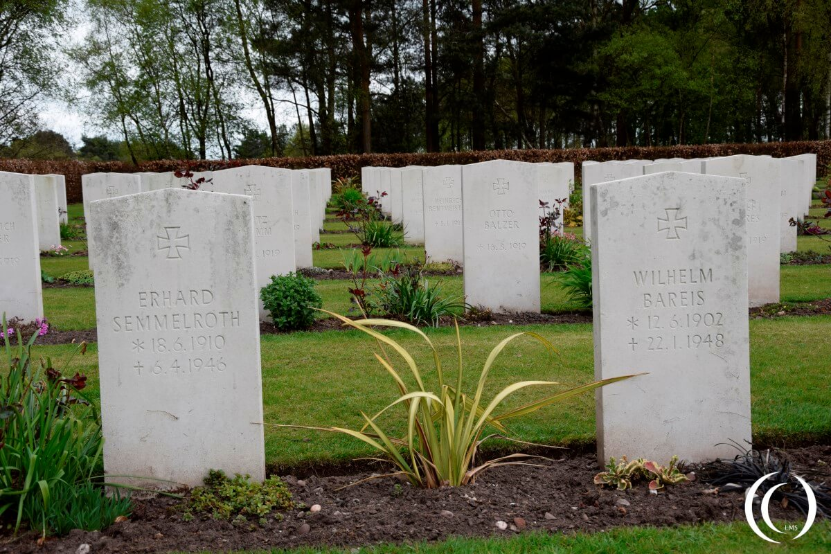 Commonwealth Cemetery Cannock Chase - World War Two German Graves