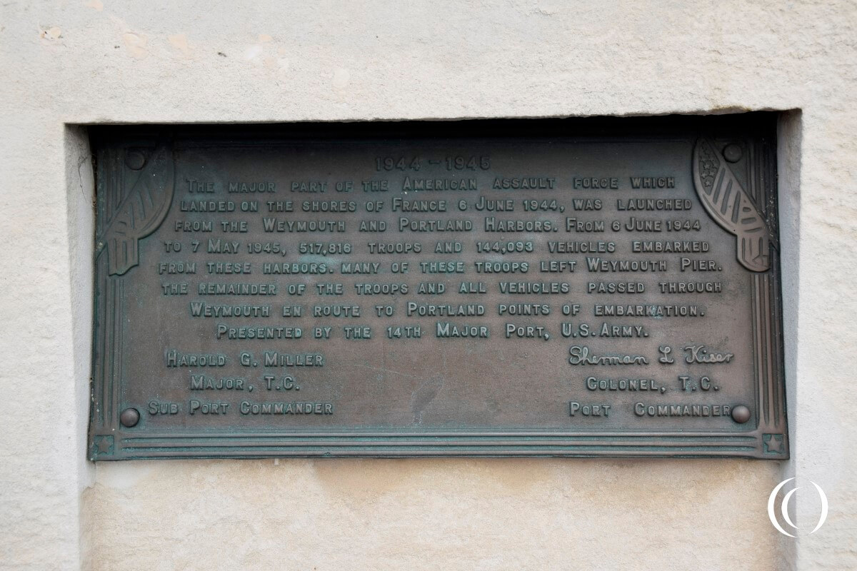 D-Day Plaque on the Weymouth Memorial