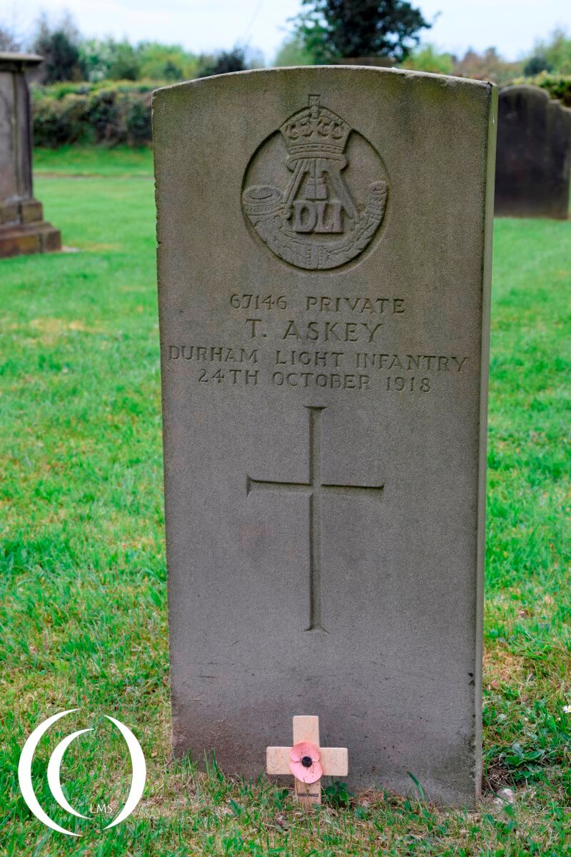 World War One Grave at St. James Church - Acton Trussell