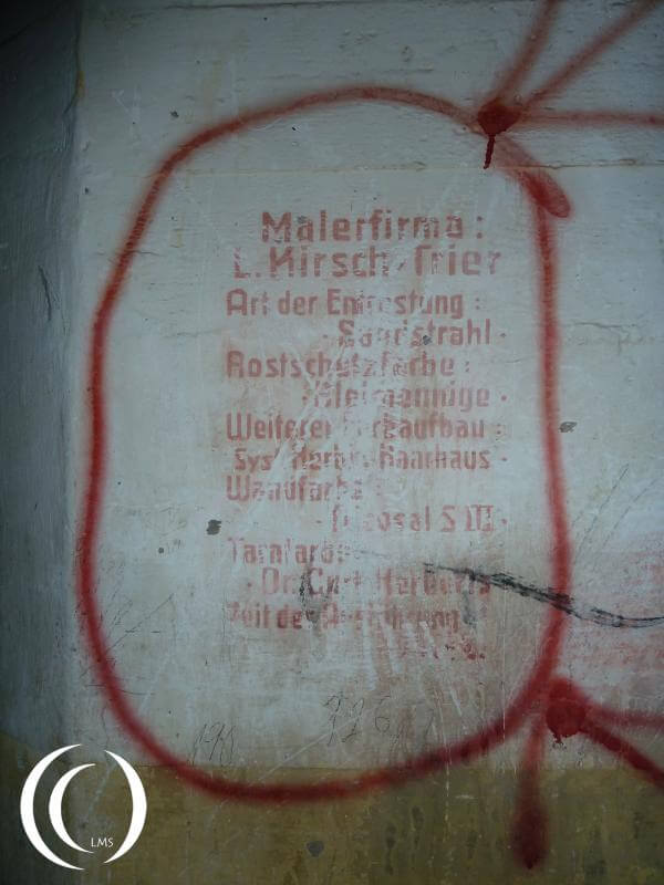 Turm East, the company who painted the Turm left an add behind inside the casemate