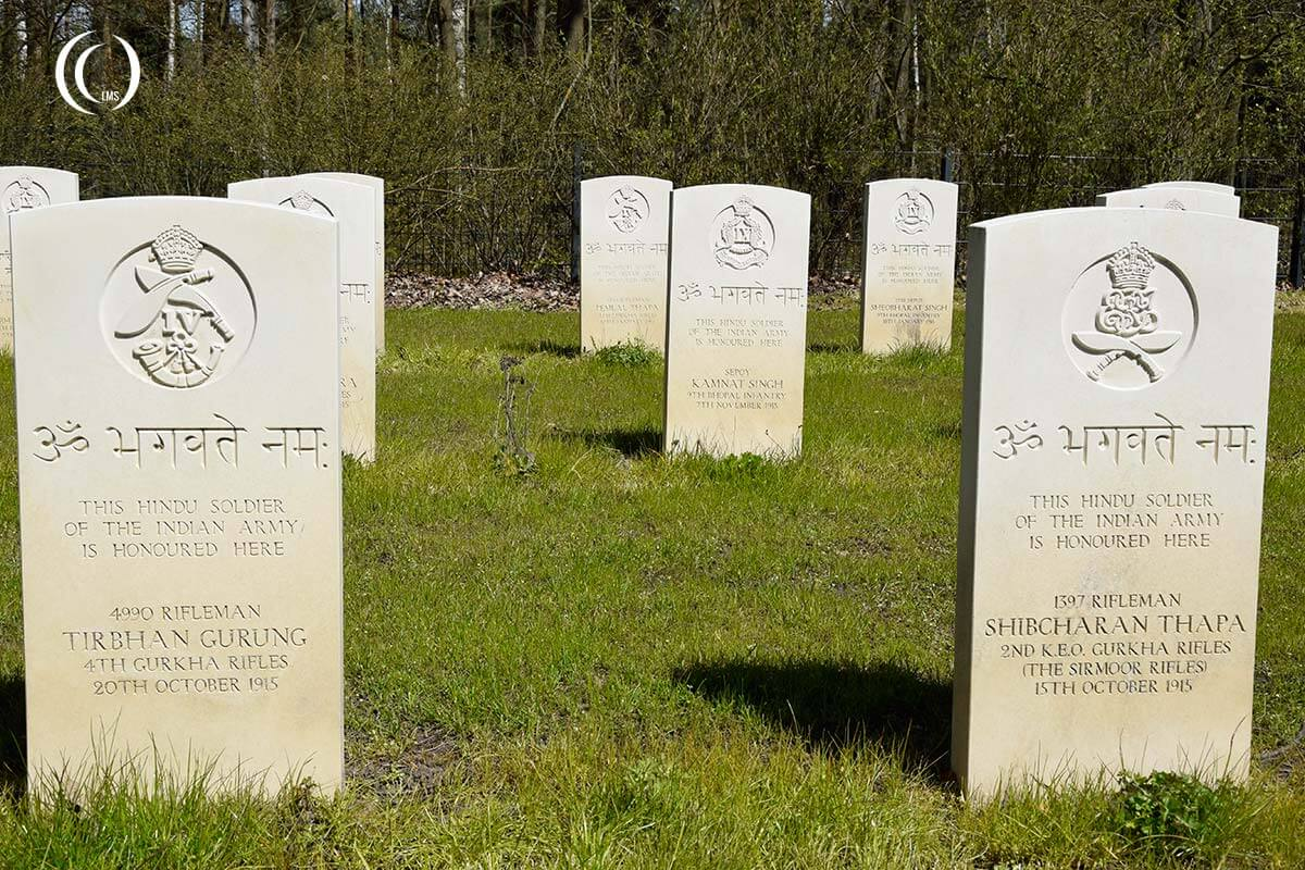 Ghurka soldier headstones