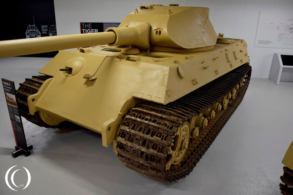 King Tiger with Porsche Turret in the Bovington tank museum
