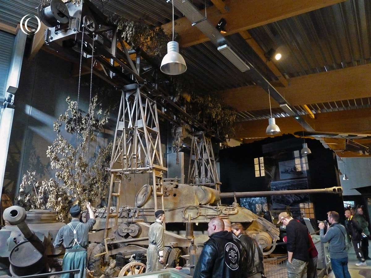 Strabokran and Panther Tank at Overlord Museum