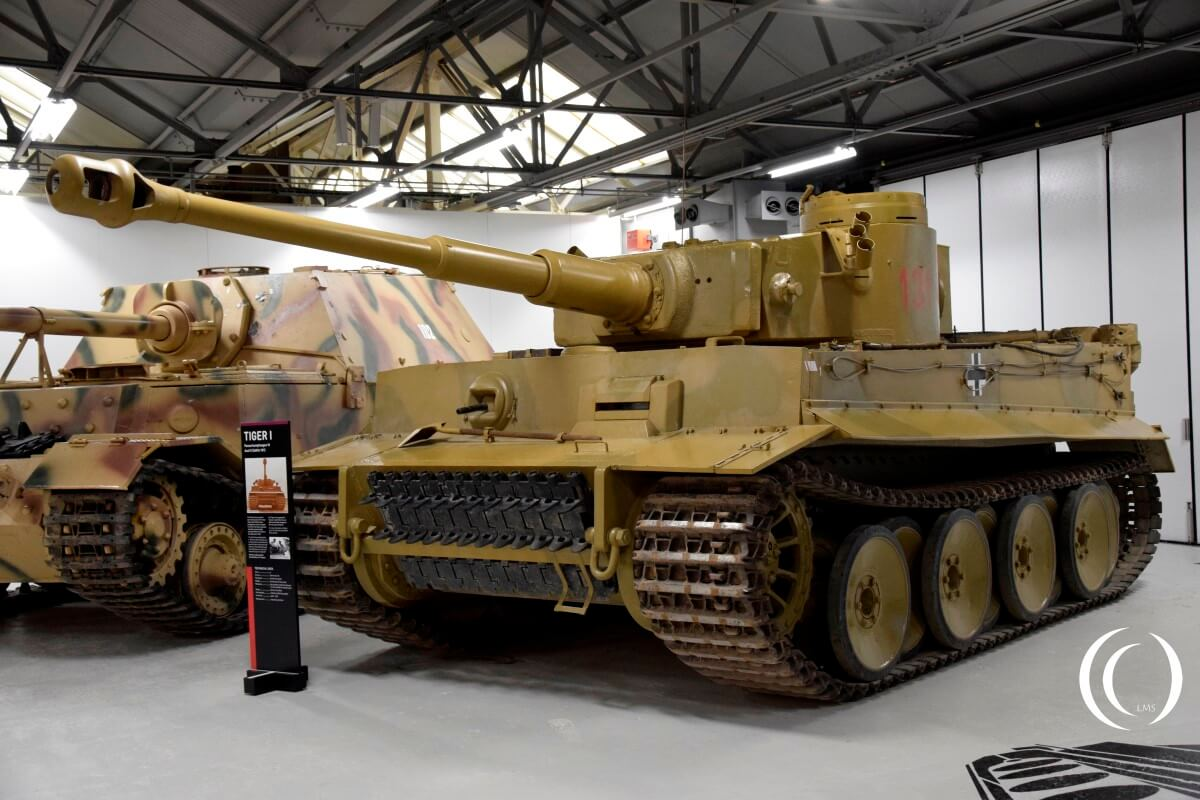 Tiger 131 in the Tiger Collection - Bovington Tank Museum