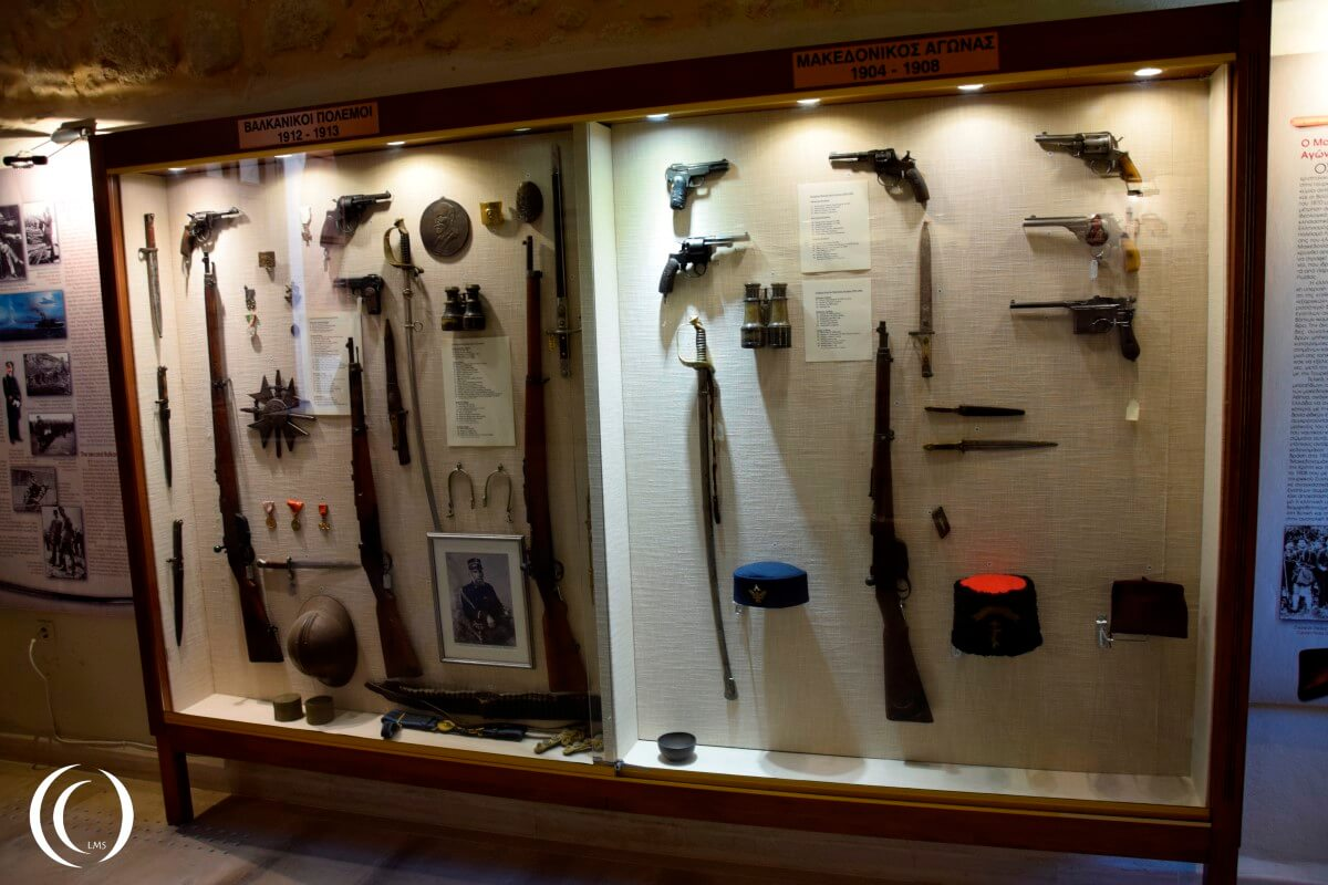 Weapons from the Balkan war and the Macedonian conflict