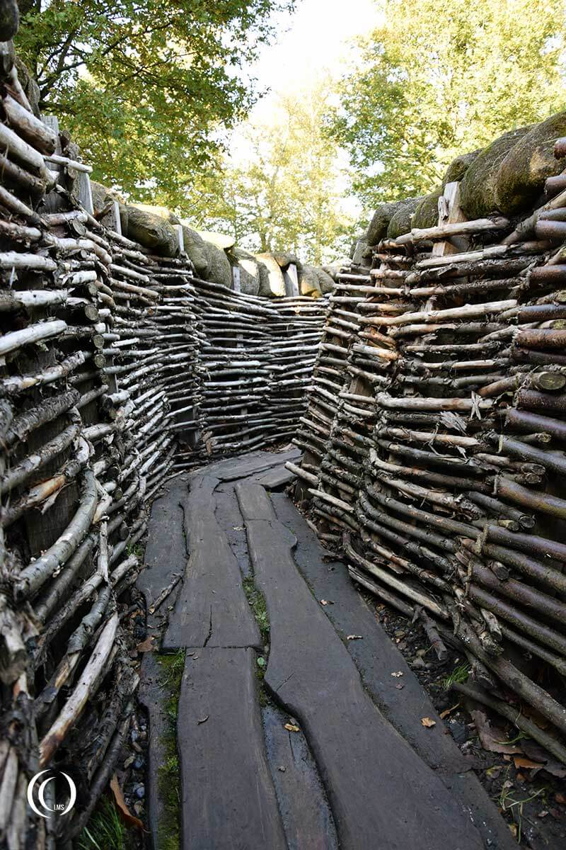 Trench at Bayernwald Ypres Salient