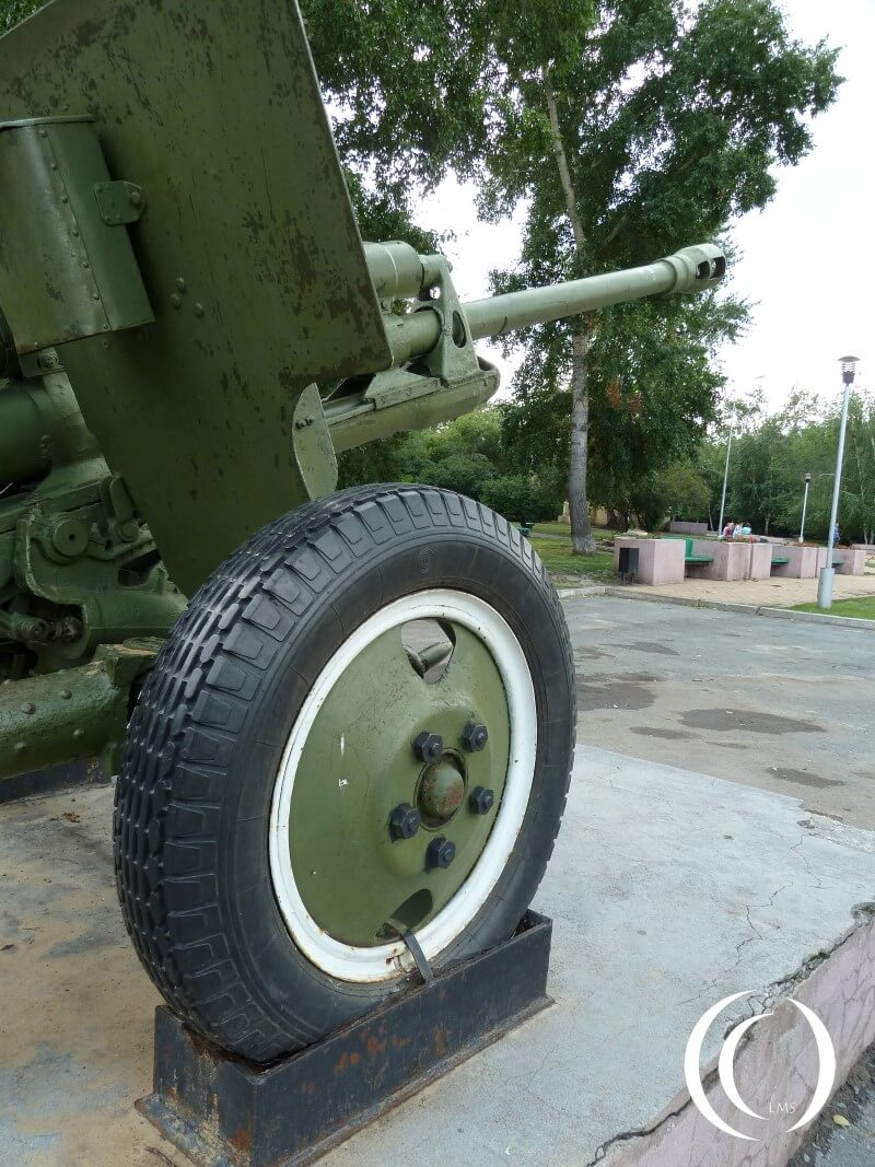 Close up of the gun - Victory Park Kurgan