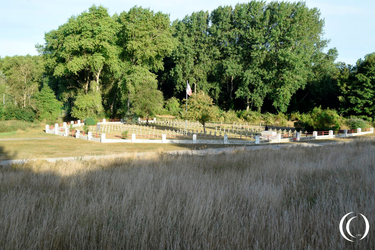 French Cemetery, seen from Fort Des Dunes