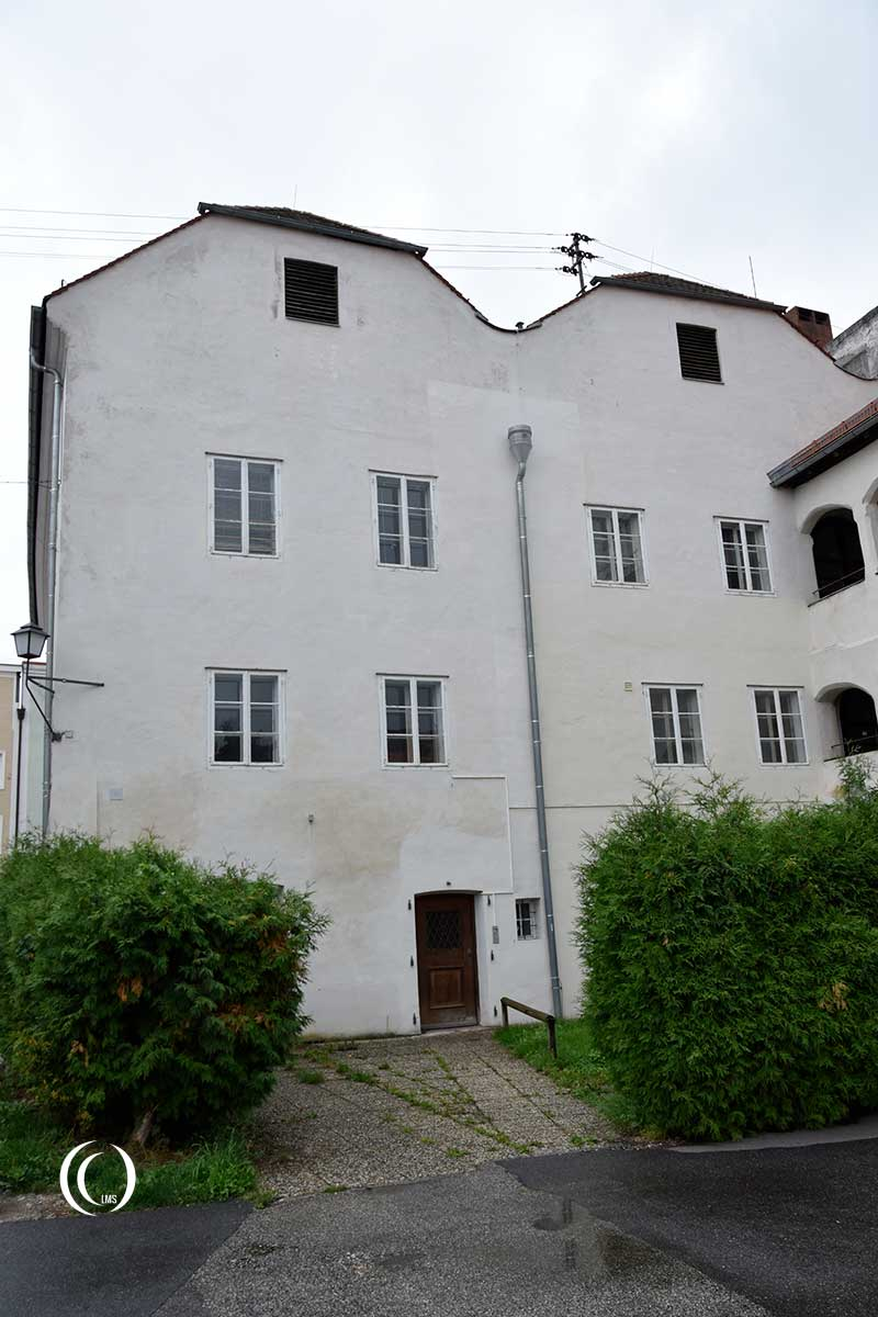 The back of the building in Braunau am Inn