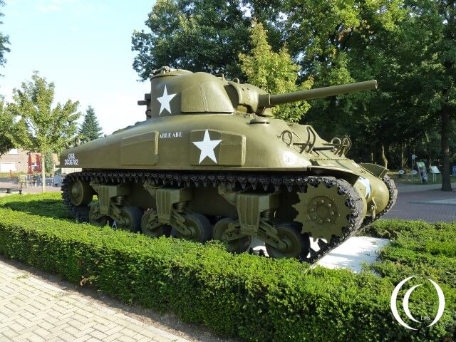 M4 Sherman Tank Gun Damage in Valkenburg -Limburg , The Netherlands