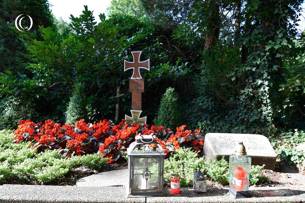 The Grave of Erwin Rommel at Herrlingen Cemetery Blaustein Germany