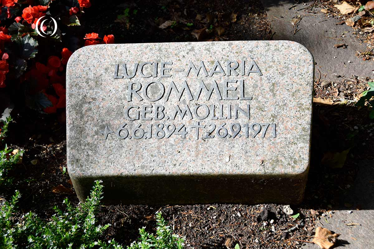 Headstone of Lucie-Maria Rommel at Herrlingen Cemetery Blaustein Germany