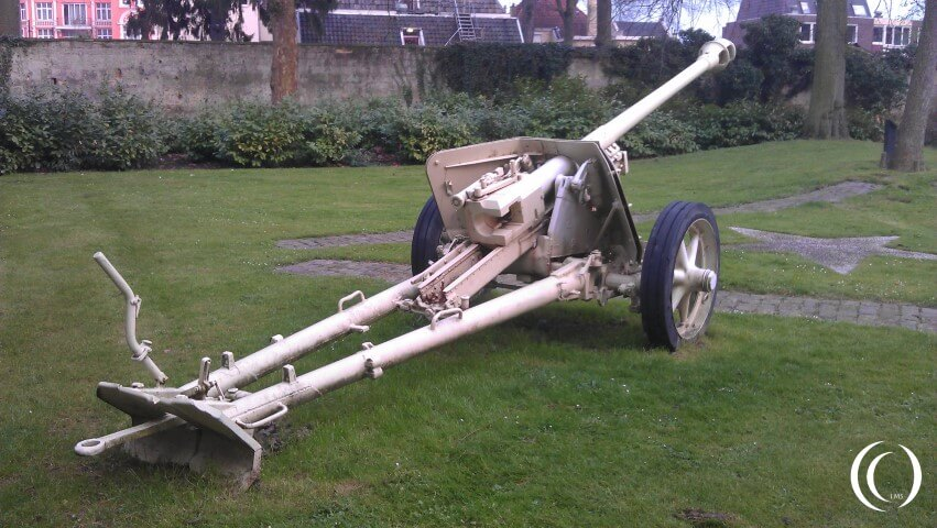 German Anti Tank Gun PaK 40 Municipal Hall Garden – Valkenburg, The Netherlands