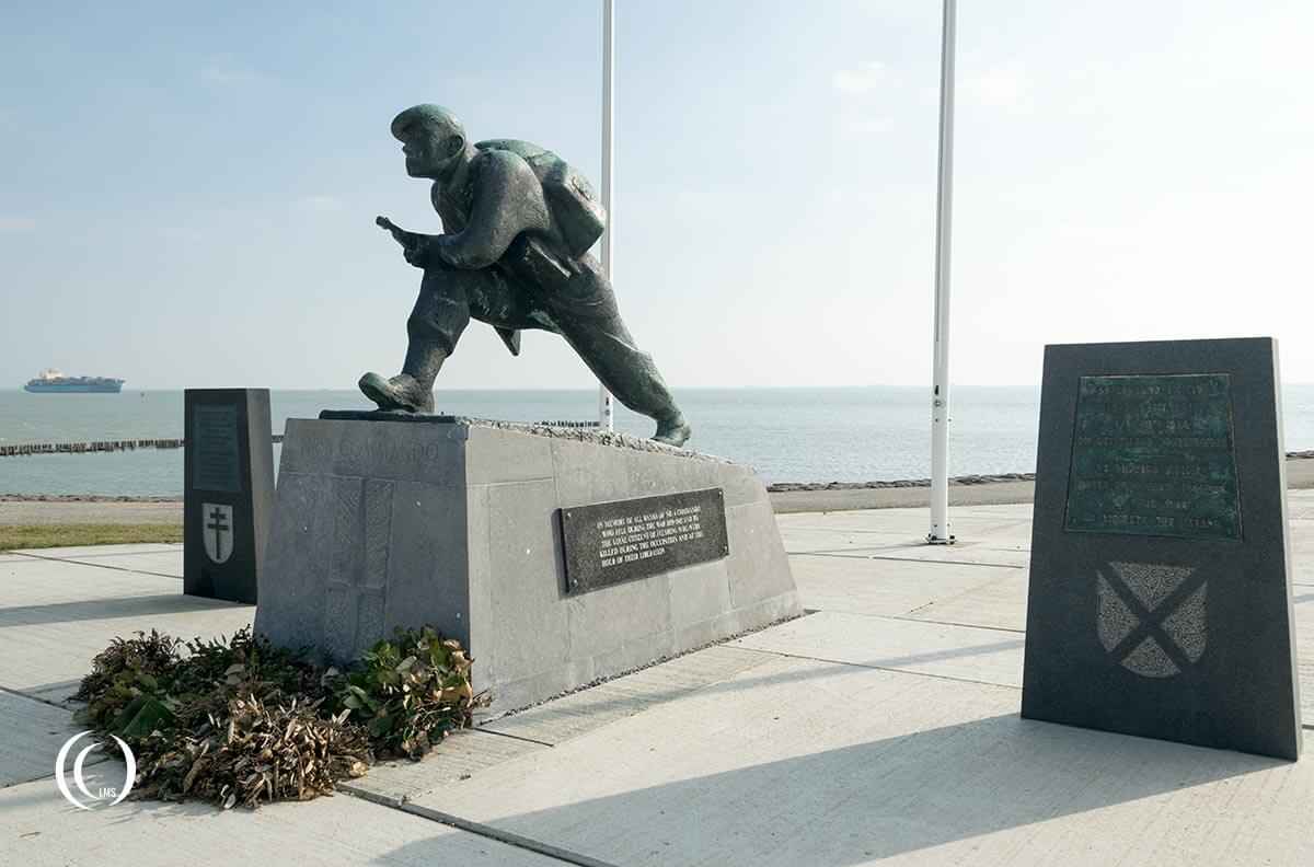 No. 4 Commando monument at Uncle Beach Flushing the Netherlands
