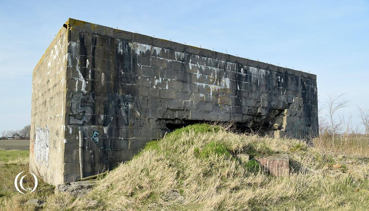 Bunker Type 669 closed side Stutzpunkt Von Kleist at Koudekerke Walcheren Holland