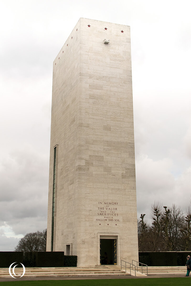 The Memorial Tower at Netherlands American War Cemetery Margraten