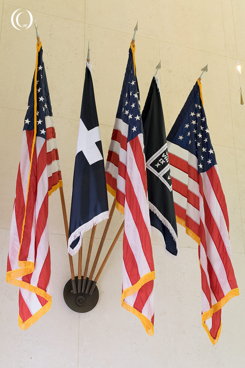 Stars and Stripes at American war Cemetery Margraten Netherlands