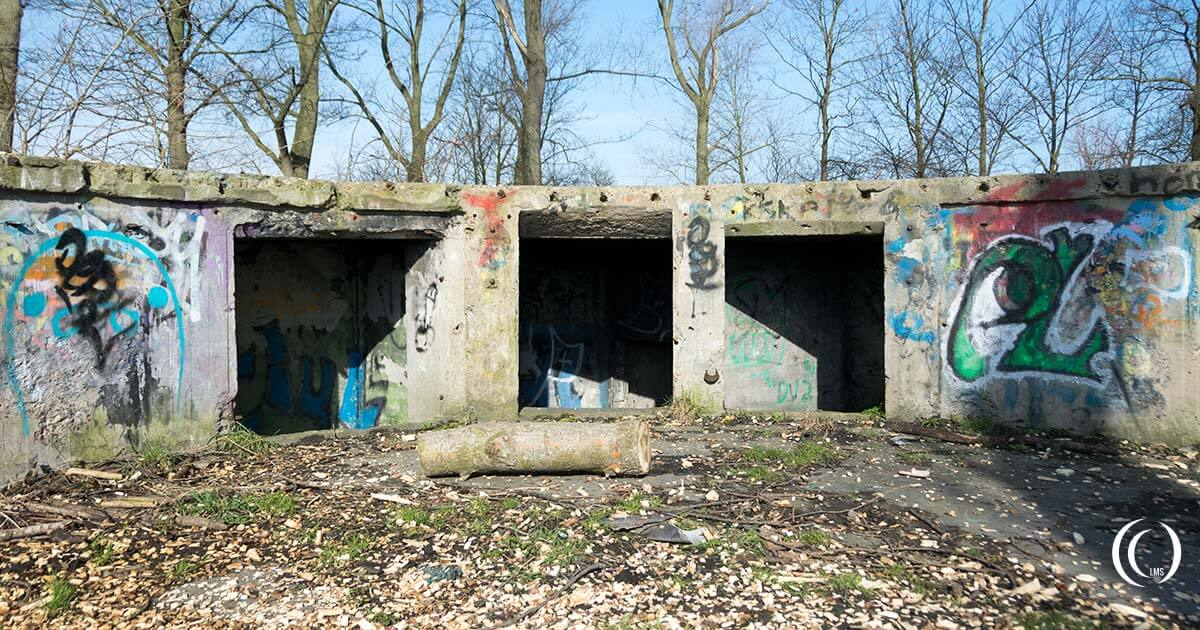 Ammunition storage chambers at Stutzpunkt Fichte Nord Batterie Walcheren the Netherlands