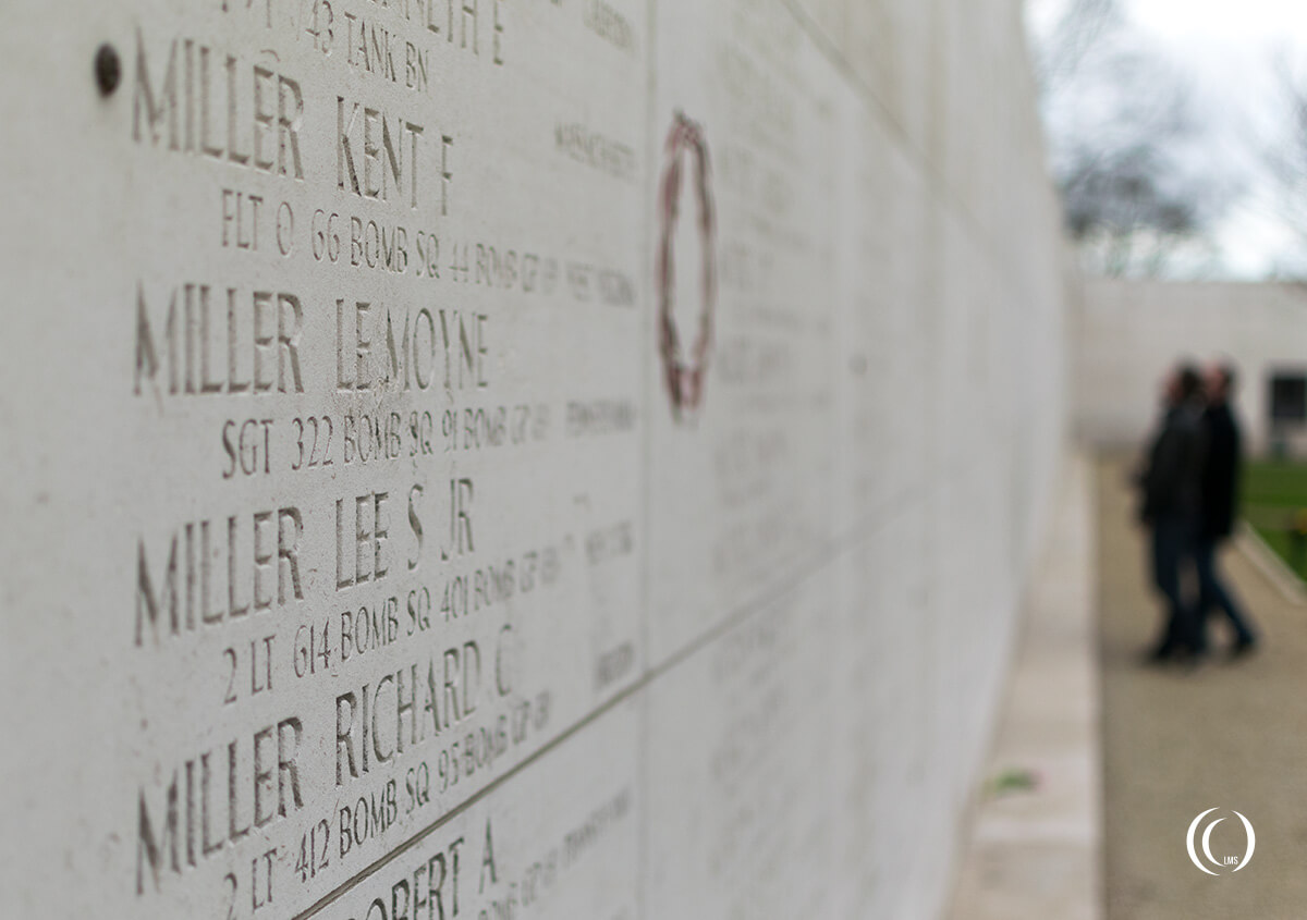 Walls of the Missing Margraten Cemetery