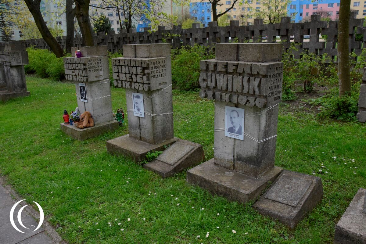 Zaspa Cemetery - Defenders of the Post Office