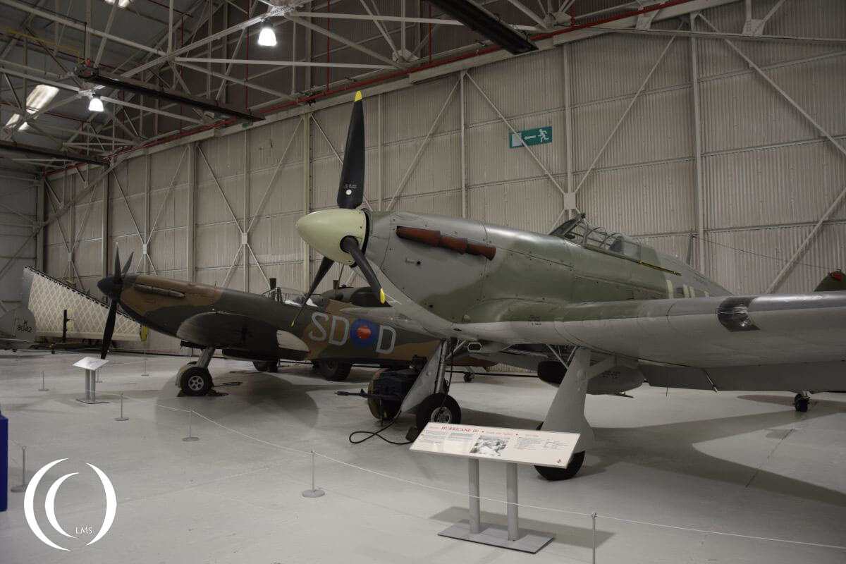 Spitfire F Mk. 1a (155th Spitfire built) and Hurricane Mk. IIC - RAF Museum Cosford