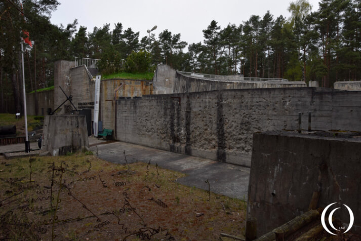 Kriegsmarine Gun Battery Schleswig Holstein - lots of Gun Damage on the outer wall