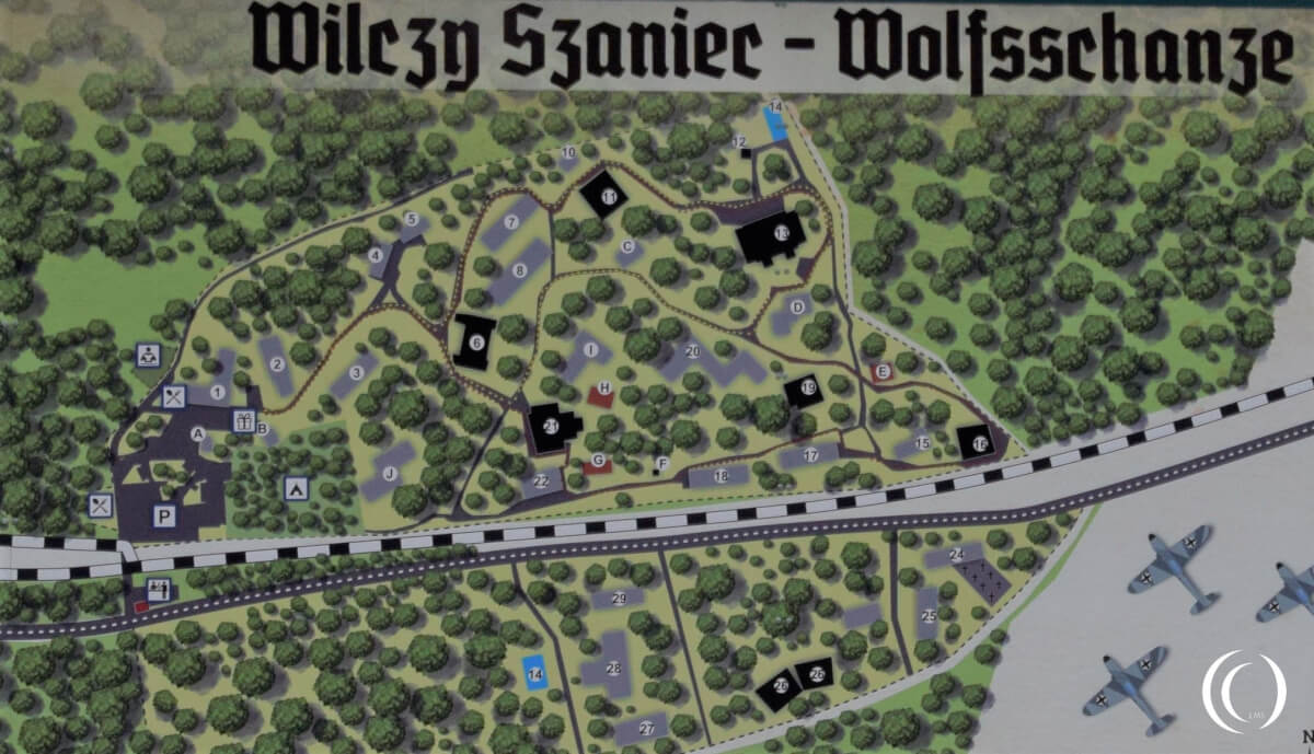 Layout of the Wolf's Lair